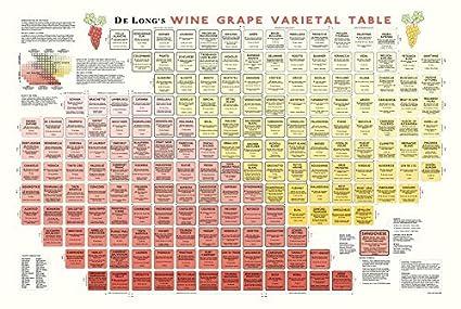 Amazon True Fabrications Delongs Wine Grape Varietal Table
