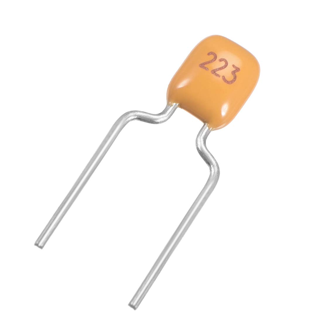 uxcell Monolithic Capacitor 50V 0.22uF Multilayer Ceramic Chip Capacitors for Computers DIY Yellow Pack of 10