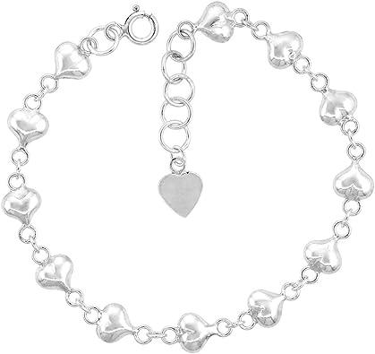 Linked Hearts Sterling Silver Bracelet