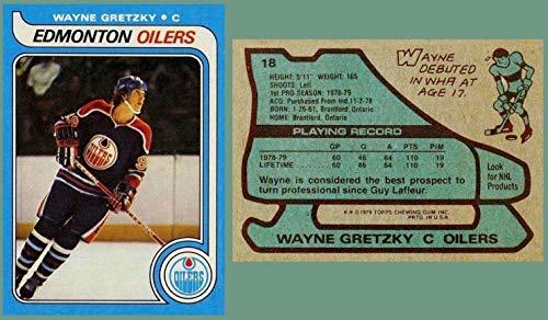 1979 Topps 18 Wayne Gretzky Rookie Card Hof Edmonton Oilers