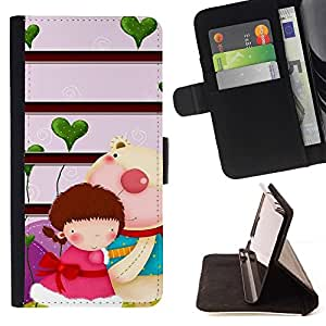 Momo Phone Case / Flip Funda de Cuero Case Cover - Pares lindos lindo - Huawei Ascend P8 Lite (Not for Normal P8)