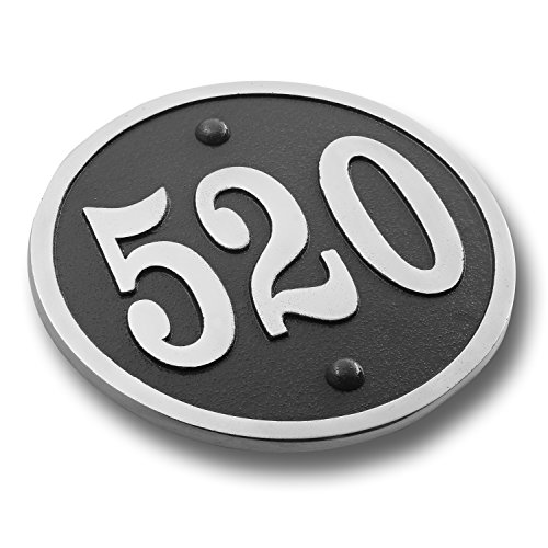 House Number Address Plaque Modern Round Style. Cast Metal Personalised Yard Or Mailbox Sign With Oodles Of Color, Number And Letter Options. Handmade In England By The Metal Foundry Just For You Cast Aluminum Sign Letters