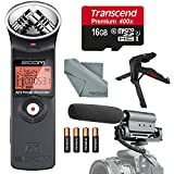 Zoom H1 Portable Digital Audio Recorder Deluxe Bundle with Shotgun Microphone + XPIX Tripod + 16 GB + Batteries + Fibertique Cloth