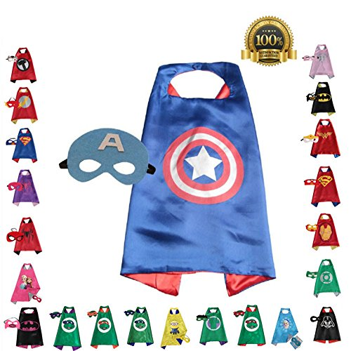 FAJ Child Superhero or Princess Cape and Mask
