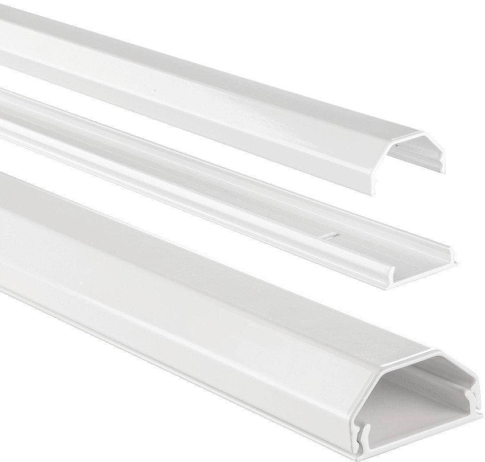 Hama Kabelkanal Alu (Aluminium, eckig, 110 x 3,3 x 1,7 cm, bis zu 5 ...