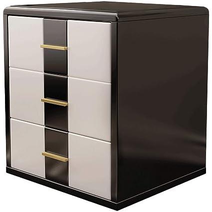 Black White Bedside Table 3 Drawer Design Home