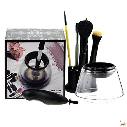 Makeup Brush Cleaner WK Home Deep Clean and Dry for All Size Makeup Brushes with Adapters 360 Degree Rotation Auto Electric Makeup Brushes Cleaner