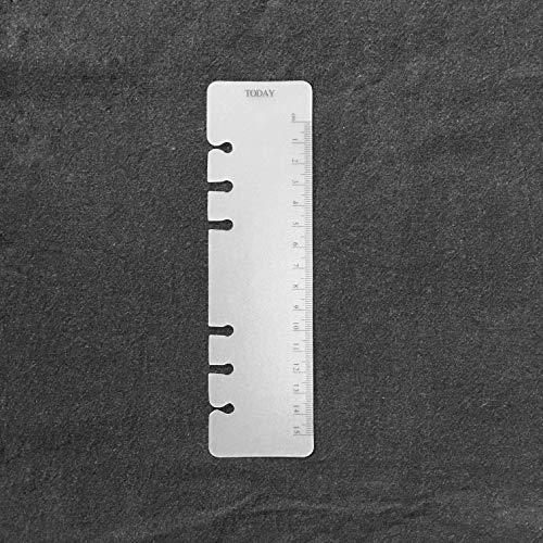 Carpeta de 6 agujeros de plástico A6 de 15,2 cm con anillas redondas para archivar hojas sueltas y protectores de hojas y...
