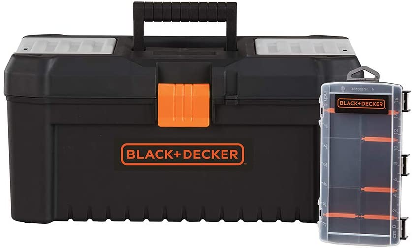 beyond by BLACK+DECKER Tool Box & Organizer, 16-Inch, 10-Compartment (BDST60096AEV)