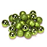 Litetao Xmas 4 cm 24PC Plastic Christmas Tree Decoration Ball For Party/Office Art/Home Art (Green)