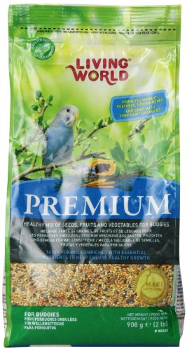 Living World Premium Parakeet/Budgie Mix, 2 Pounds ()