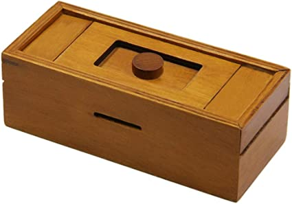 Magic Box Mind Game Case Kids Brain Teaser Gift Wooden Educational Toy Mystery