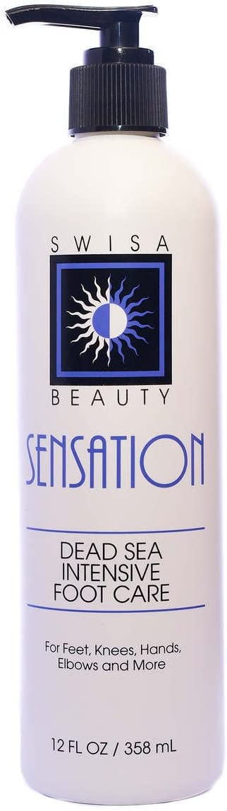 Swisa Beauty Dead Sea Intensive Foot Care Lotion - Rich and Effective Formula Contains Aloe Vera as The Base and Eucalyptus Oil for Penetration.