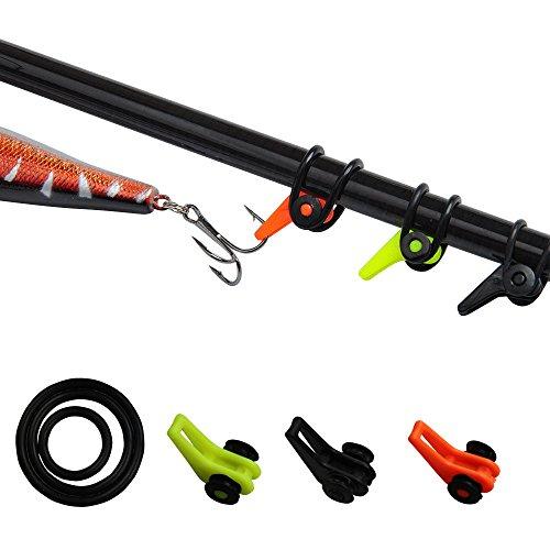 - ICE SEA Fishing Rod Hook Keeper Colorful Fishing Pole Lure Jig Holder Small Fishing Gaff Holder (9pcs Hook Keeper)