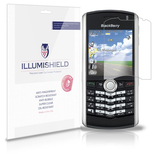 - iLLumiShield Screen Protector Compatible with BlackBerry Pearl 8130 (8100,8110,8120)(3-Pack) Clear HD Shield Anti-Bubble and Anti-Fingerprint PET Film