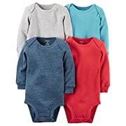 Carters Baby Boys 4-pack Long-sleeve Bodysuits (newborn, assorted)