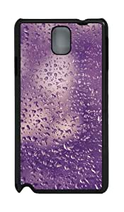 Samsung Galaxy Note 3 CasePurple Water Droplets PC Hard Plastic Case for Samsung Galaxy Note 3 / Note III/ N9000 - Black