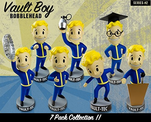 Gaming Heads Fallout 4 Vault Boy 111 Bobbleheads Series 2 set complet