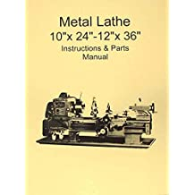 Amazon misc books metal lathe 10 x 24 12 x 36 manual jetencogrizzlymscasian fandeluxe Choice Image