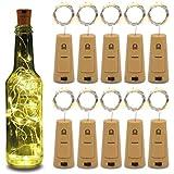 10pcs Wine Bottle Lights 20LEDs Cork Bottle Lights with Screwdriver Battery Operated Wine Cork Lights String Lights for…