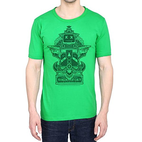 Kingdom Of Calm Unisex-Adult Organic Cotton T-Shirt (T019- S_Green_Small)