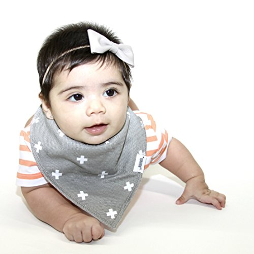 Baby Bandana Drool Bibs with Snaps, 8-Pack Organic Absorbent Drooling & Teething Bib Set by Matimati (Monochrome) by Matimati Baby (Image #2)