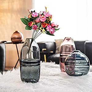 Grunyia Artificial Fake Flowers Silk Tiny Rose Flowers Wedding Bridal Bouquet Home Decoration 2