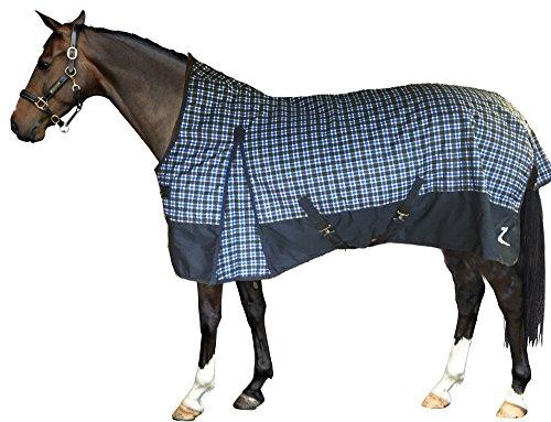 Horze Thunder 1200 Denier High Neck Turnout Blanket - 200 Grams (Plaid Turnout Blanket)