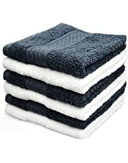 Cleanbear Hand Towel Washcloth Sets,100% Cotton, High Absorbent, for Home, Outdoor and Travel Use