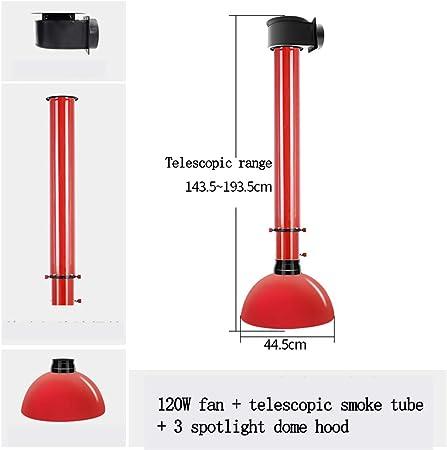 Tubo De Escape De Humo Telescópico Para Barbacoa Campanas Extractoras Con Foco De Luz Cálida LED De 3 Vías Adecuado Para Restaurantes De Barbacoa, Restaurantes De Ollas Calientes: Amazon.es: Hogar