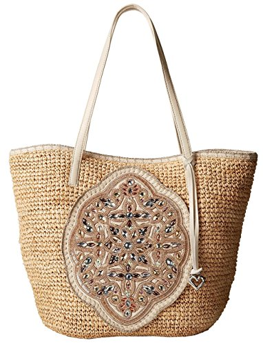 Brighton Ara Beaded Raffia Tote Handbag (Beaded Raffia)