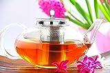 Glass Teapot Harmony, 42oz/1242ml No Drip Lead Free Special glass by Tea Beyond