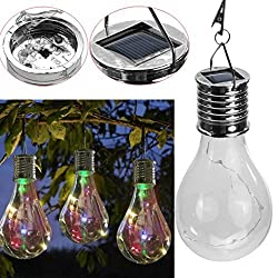 LtrottedJ Waterproof Solar Rotatable Outdoor Garden Camping Hanging LED Light Lamp Bulb