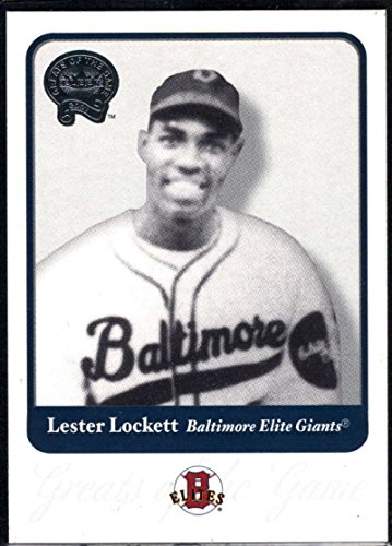 Baseball MLB 2001 Fleer Greats of the Game #77 Lester Lockett NM-MT