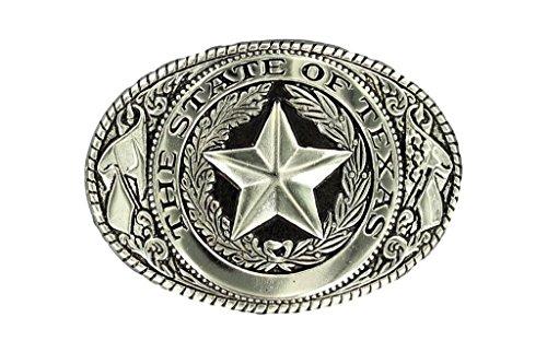 Seal Buckle (Nocona Texas Seal Buckle - Silver Plated)