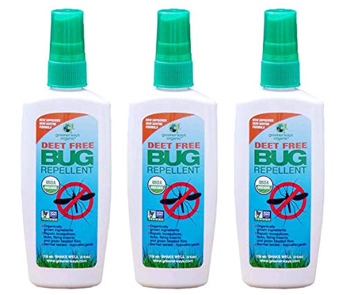 Greenerways Organics Insect Repellent Travel Size, Premium, USDA Organic, DEET-Free, Natural, Mini Repellent Spray, Travel Size Repellent, Mosquito-Repellant, Bug Spray 3-Pack - (3) ()