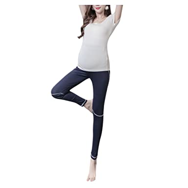 Hzjundasi Mujer Maternidad Vientre Yoga Pantalones ...
