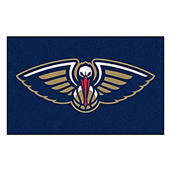 Image of FANMATS NBA New Orleans Pelicans Nylon Face Ultimat Rug