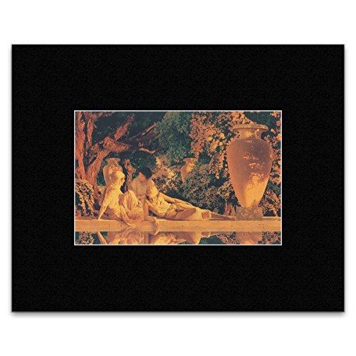 Maxfield Parrish - Garden of Allah (Detail) 1918 Mini Poster - 30.5x40.5cm - Maxfield Parrish Garden