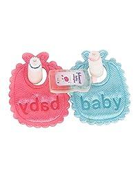 5pcs Baby Bottles Shampoo Baby Bibs Dollhouse Miniature Nursery Accessory