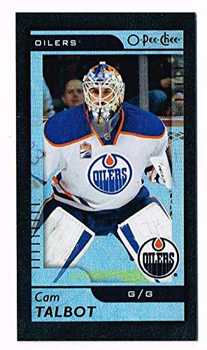 2017-18 - O-Pee-Chee - Cam Talbot - M-10 - Mini Black Foil Parallel - Edmonton Oilers - OPC Hockey Card