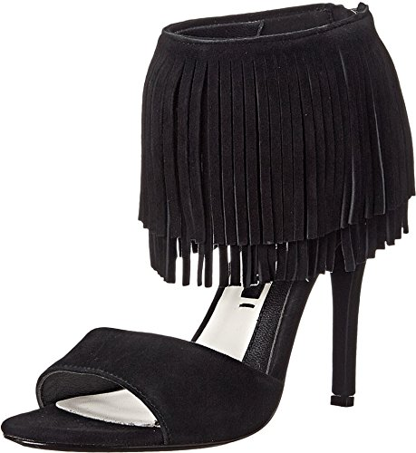 Alice + Olivia Women's Gulia Black Kid Suede 37 (US Women's 7) M