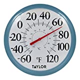 Taylor Precision Products 6700TE 13.25'' Big & Bold, Black & White Thermometer, Teal