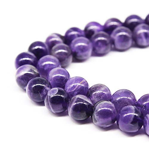 JarTc AAAA+ Natural Dream amethyst beads Round Stone beads DIY Loose Beads For Jewelry Making Beads 15