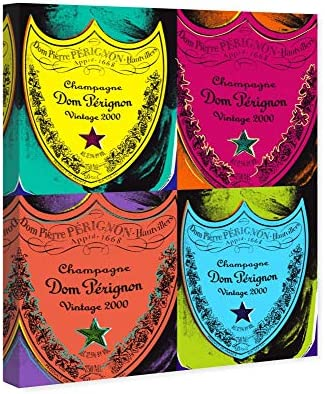 The Oliver Gal Artist Co. Drinks and Spirits Wall Art Canvas Prints 'Warholesque Dom P' Home D cor