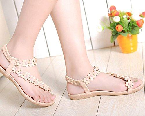 scarpe Minetom sexy girls estate pantofole boemia fiore tallone flip flop sandali piatti infradito
