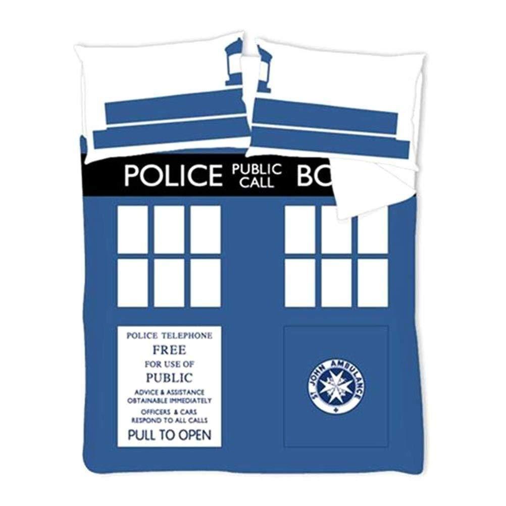 Doctor Who 33,2/x 25,2/x 5,2/cm Doble Funda de edred/ón Azul