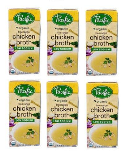 Pacific Organic Free Range Low Sodium Chicken Broth 6 Packs of 32 Oz Cos12