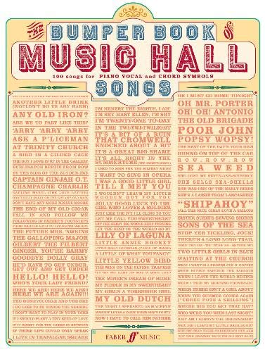 Bumper Book Of Music Hall Songs: Piano, Vocal, Guitar Pvg: Amazon ...