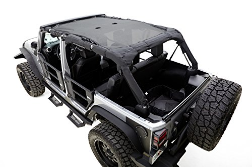 Rampage-Products-90635-Black-Mesh-Shade-Top-for-2-Door-Jeep-JK-Wrangler
